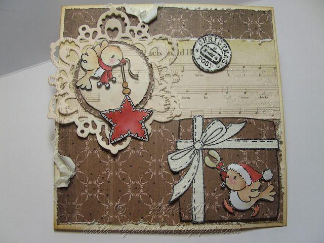 Anita 's Warme Groetjes: Kerst groetjes...in vintage stijl.