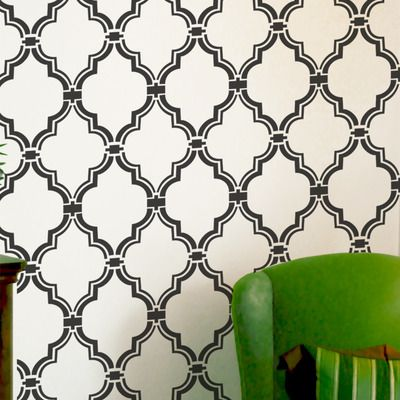 Wandschablone marokkanisch Spalier Babyraum Muster Wand Raumdekor ...