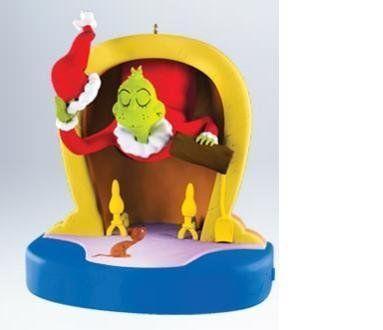 Mean Mr Grinch 2011 Hallmark Magic Ornament Dr Seuss Ho https