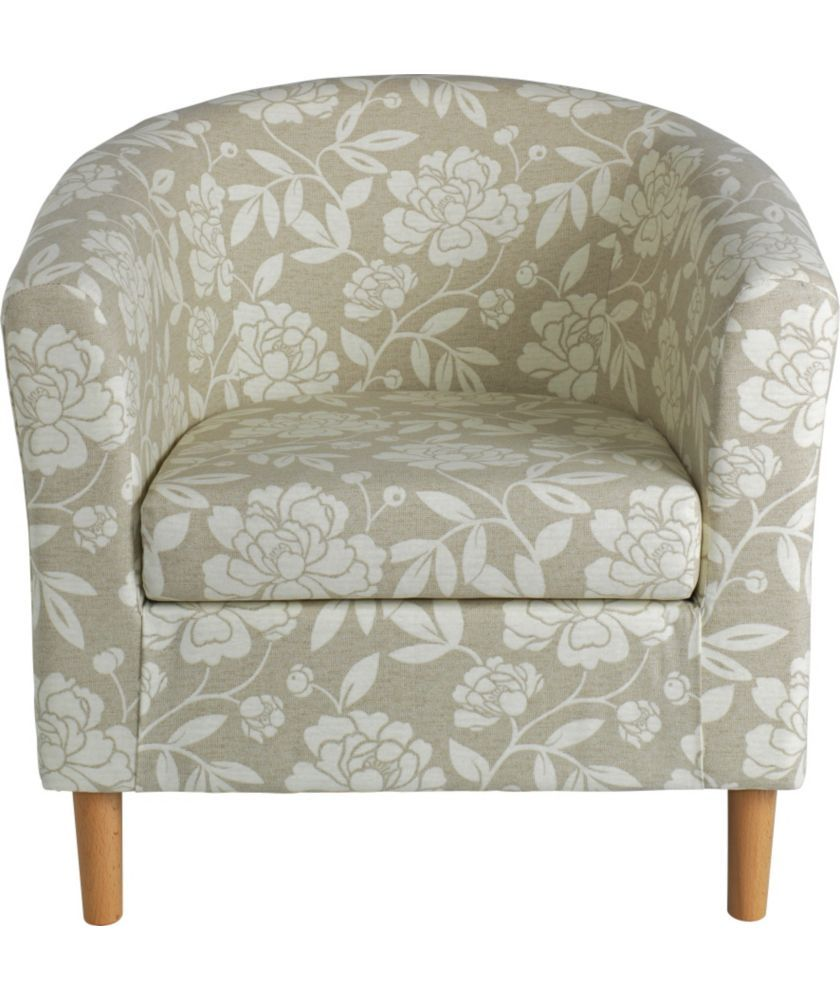 Buy Floral Tub Chair - Natural at Argos.co.uk - Your Online Shop ...