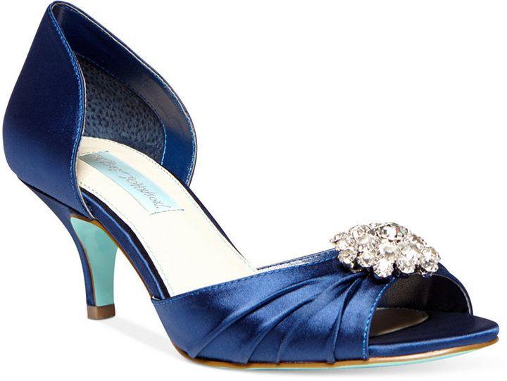 Blue By Betsey Johnson Stun Low Heel Evening Pumps   Evening U0026 Bridal    Shoes   Macyu0027s
