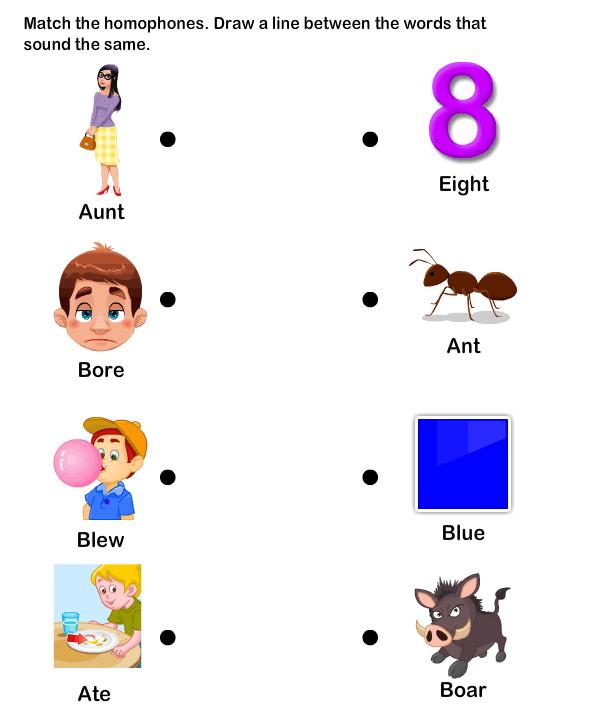 Homophone Word Worksheet1 Esl Efl Worksheets
