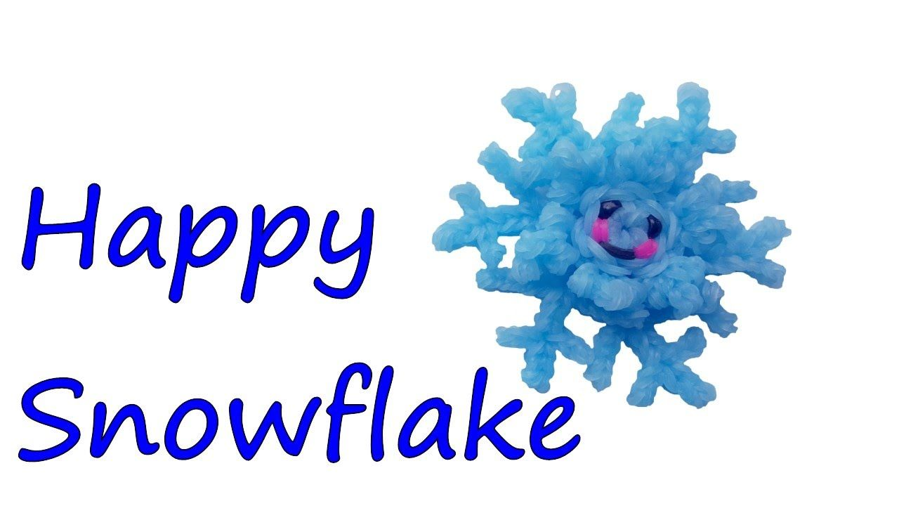Happy Snowflake Tutorial by feelinspiffy (Rainbow Loom