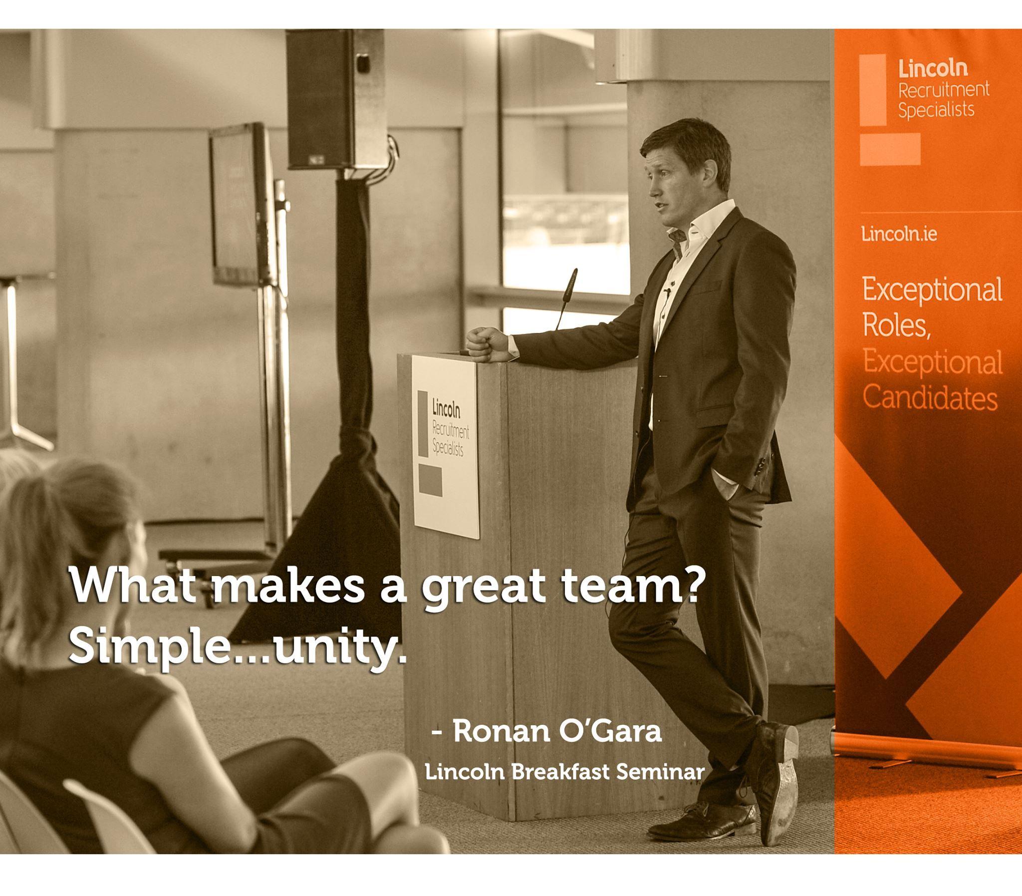 Ronan O Gara, Teamwork Quote motivational speaking Ronan O