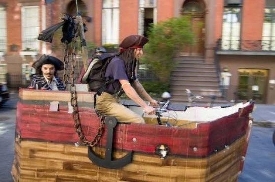 Profile Of Pirate Ship Bike Pirate Ship Bicycle Design Fantasy