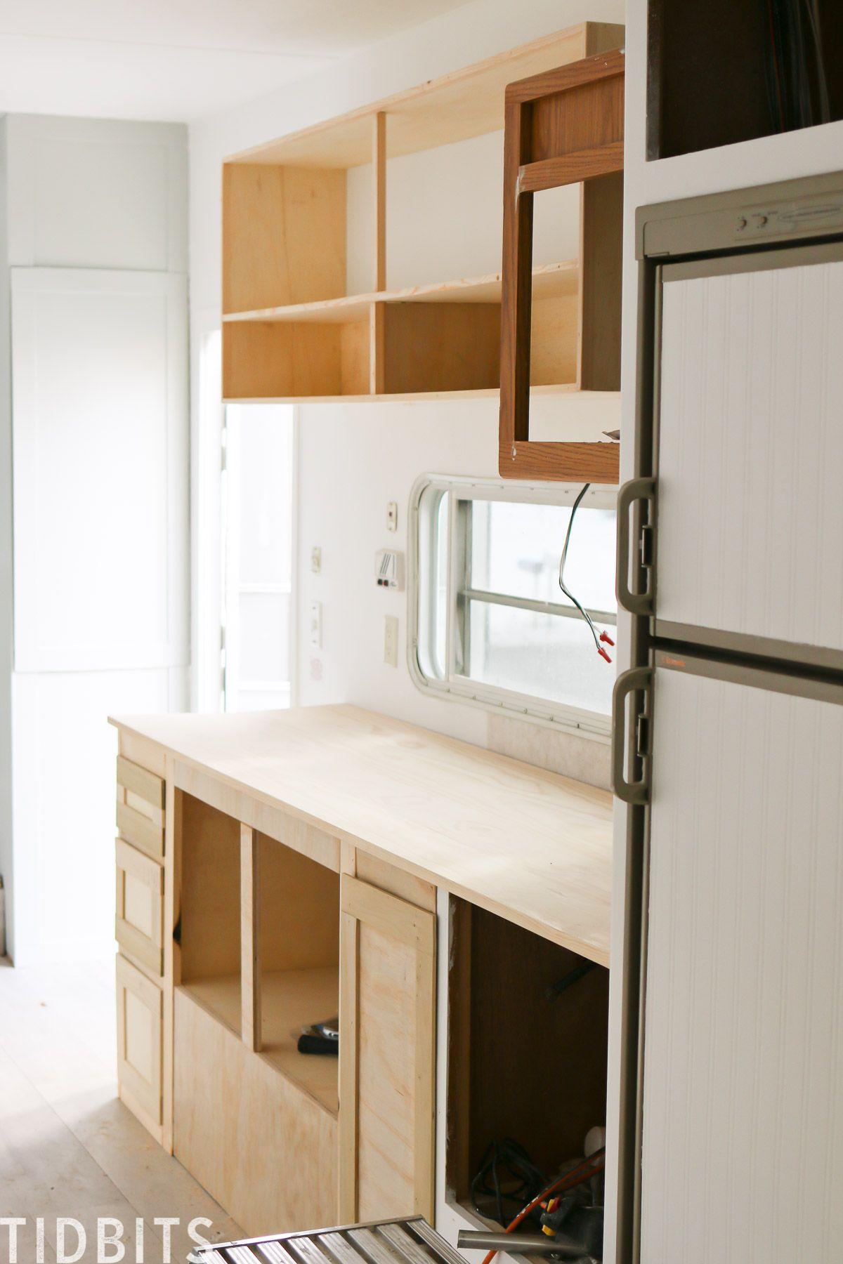 Rv Renovation Kitchen Details Tidbits Cabinets For Sale Kitchen Cabinets For Sale Diy Countertops