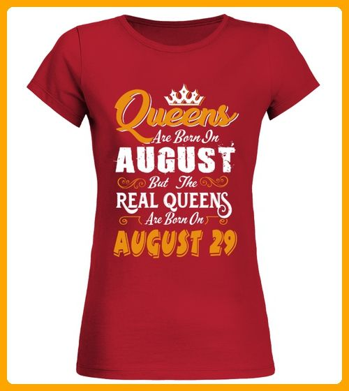 Real Queens are born on August 29 - Läufer shirts (*Partner-Link)