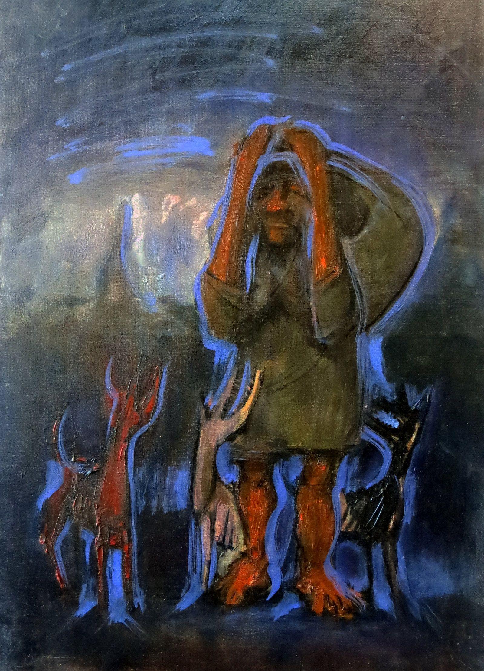 """La carga"" / #Chaco ""Burden"" / #Chaco #Oleo / 50 x 70 cm / 1984"