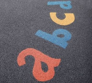 Alphabet Within School Playground Flooring