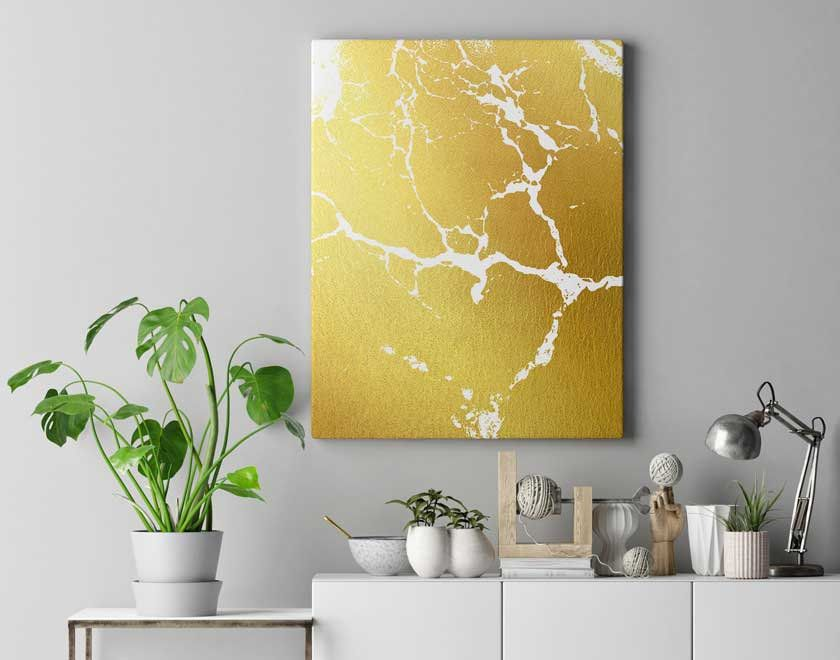 Gold abstract art, gold marble art, gold abstract wall print, gold ...