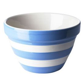 Tg Green Cornishwear Pudding Basin Cornishware Striped Bowl Basin