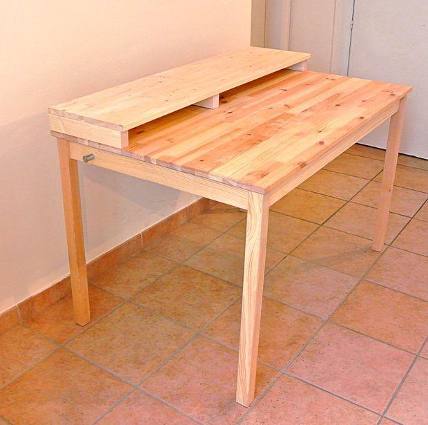 Ikea Hack Diy Studio Desk Plasma Collaborative Real Wood Table Kitchen Table Ikea