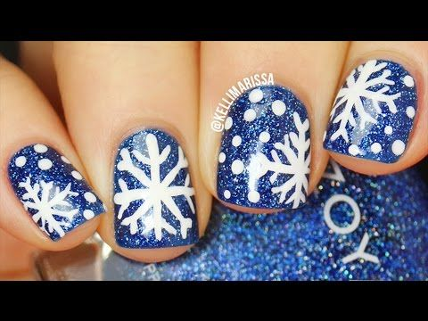 How To Draw Snowflakes Nail Art