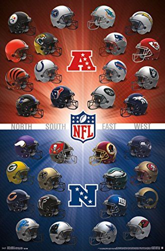 nfl helmets 2016 22 x 34 wall poster sports nfl pinterest