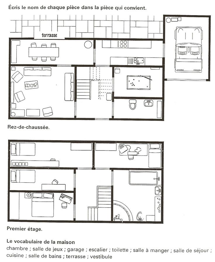 Pin on House (La Maison): French Thematic Unit