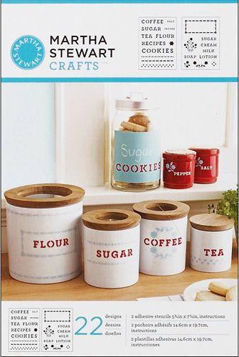 Martha Stewart Crafts Adhesive Stencil Kitchen Labels Martha