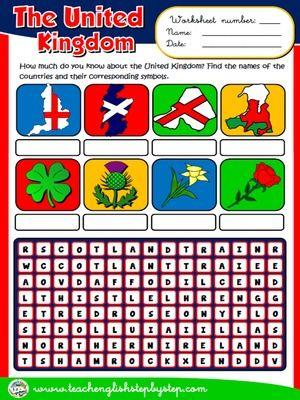 The United Kingdom - Worksheet | THE UNITED KINGDOM PACK | Pinterest ...
