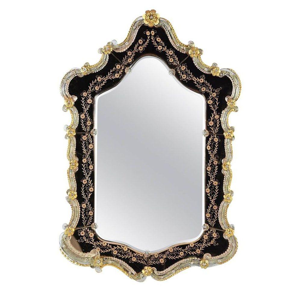 Italian Venetian Style Etched Wall Mirror Mirror Venetian Wall