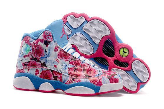 Original Jordan 13 XIII WoShoe - School Season Flower