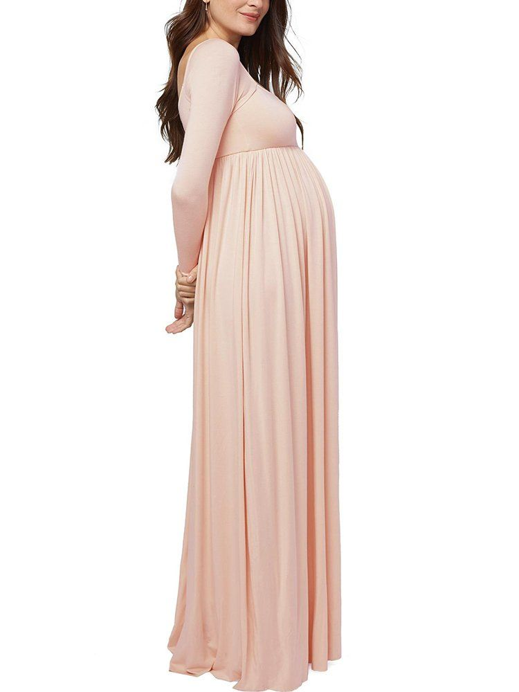2f393476ffdf Women Maternity Clothes - Bigyonger Womens Maternity Maxi Dress Empire  Waist Ruched Long Sleeve Pregnancy Dresses     Continue to the product at  the image ...