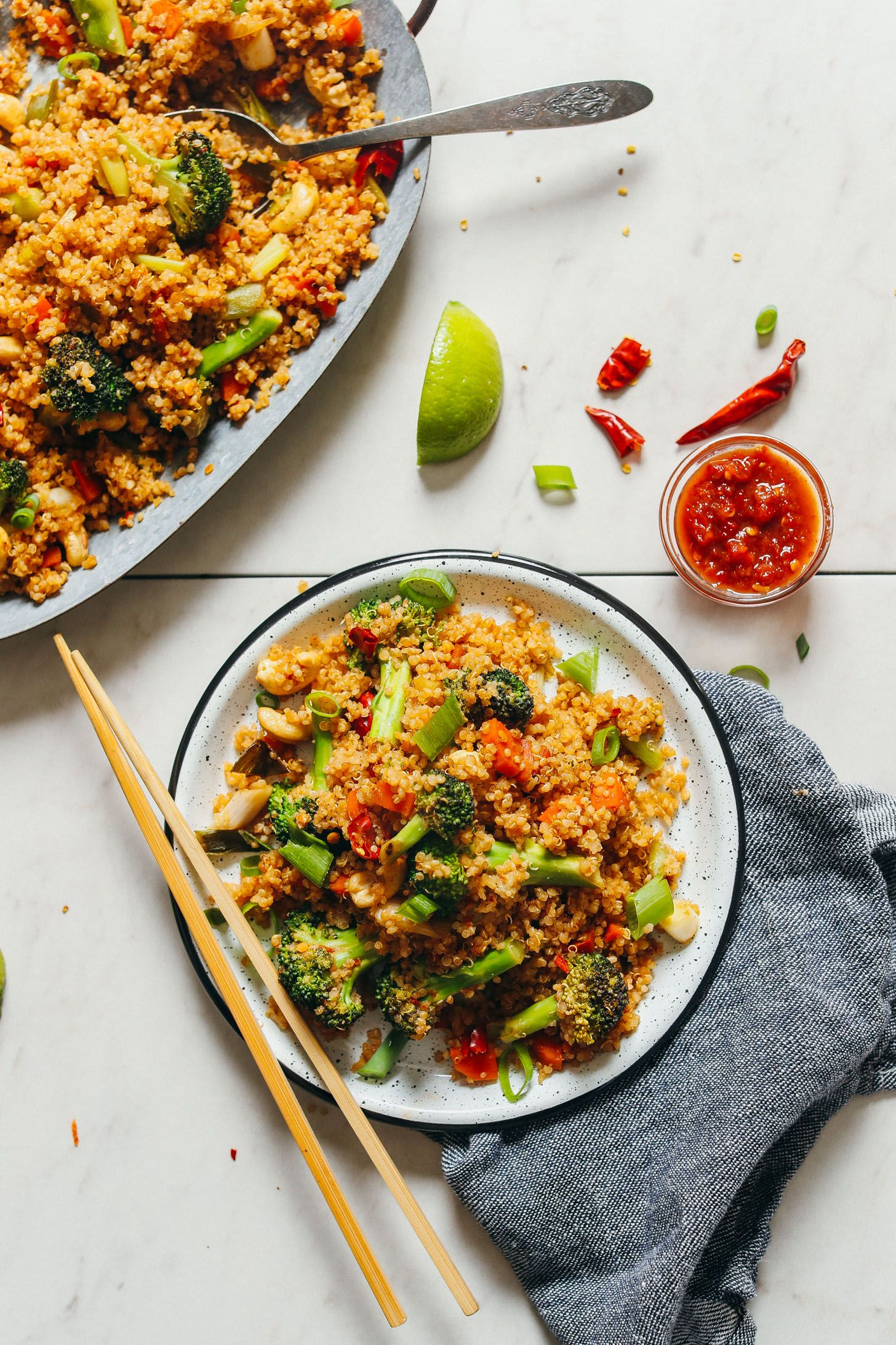 30 Minute Quinoa Fried Rice