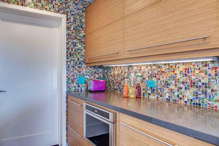 Couleur Mur Cuisine Carrelage Design Multicolore Photo Jackson