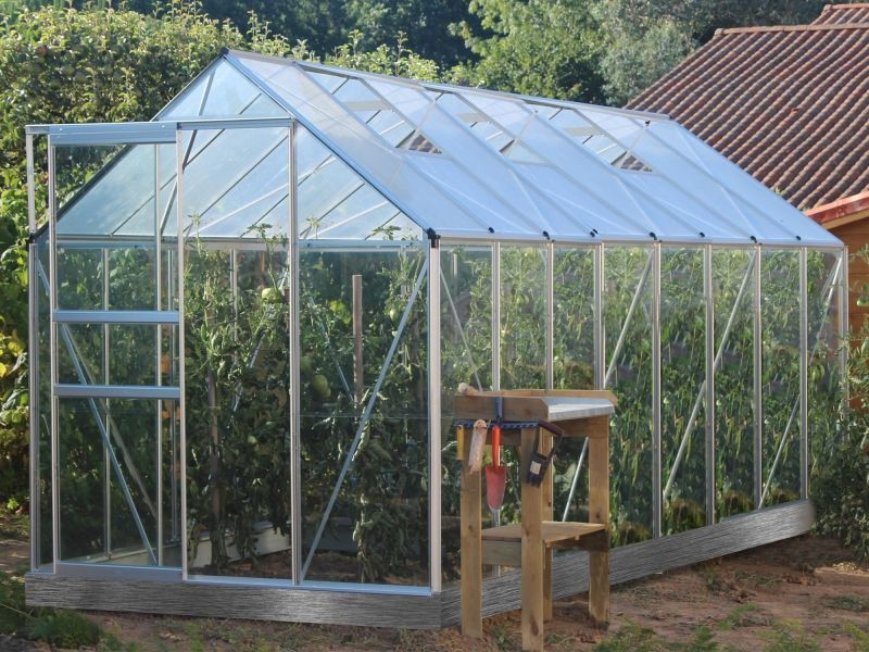 Serre De Jardin Verre Trempe 3mm Lams Basilic 10m Pas Cher Serre De Jardin Manomano Ventes Pas Cher Com 10m 3mm Basilic In 2020 Greenhouse Garden World