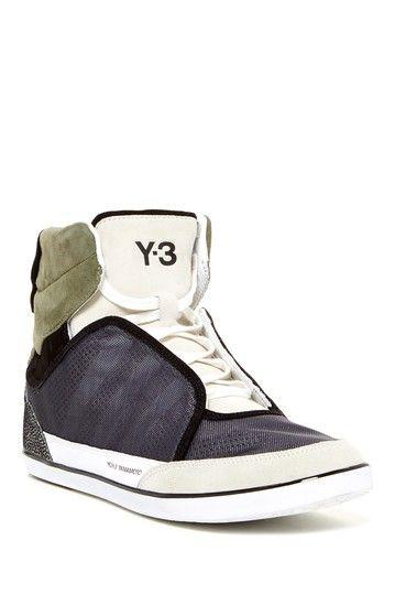 1145d5d577f24 adidas Y-3 Honja High Top Sneaker  Grey White Japanese Fashion Designers