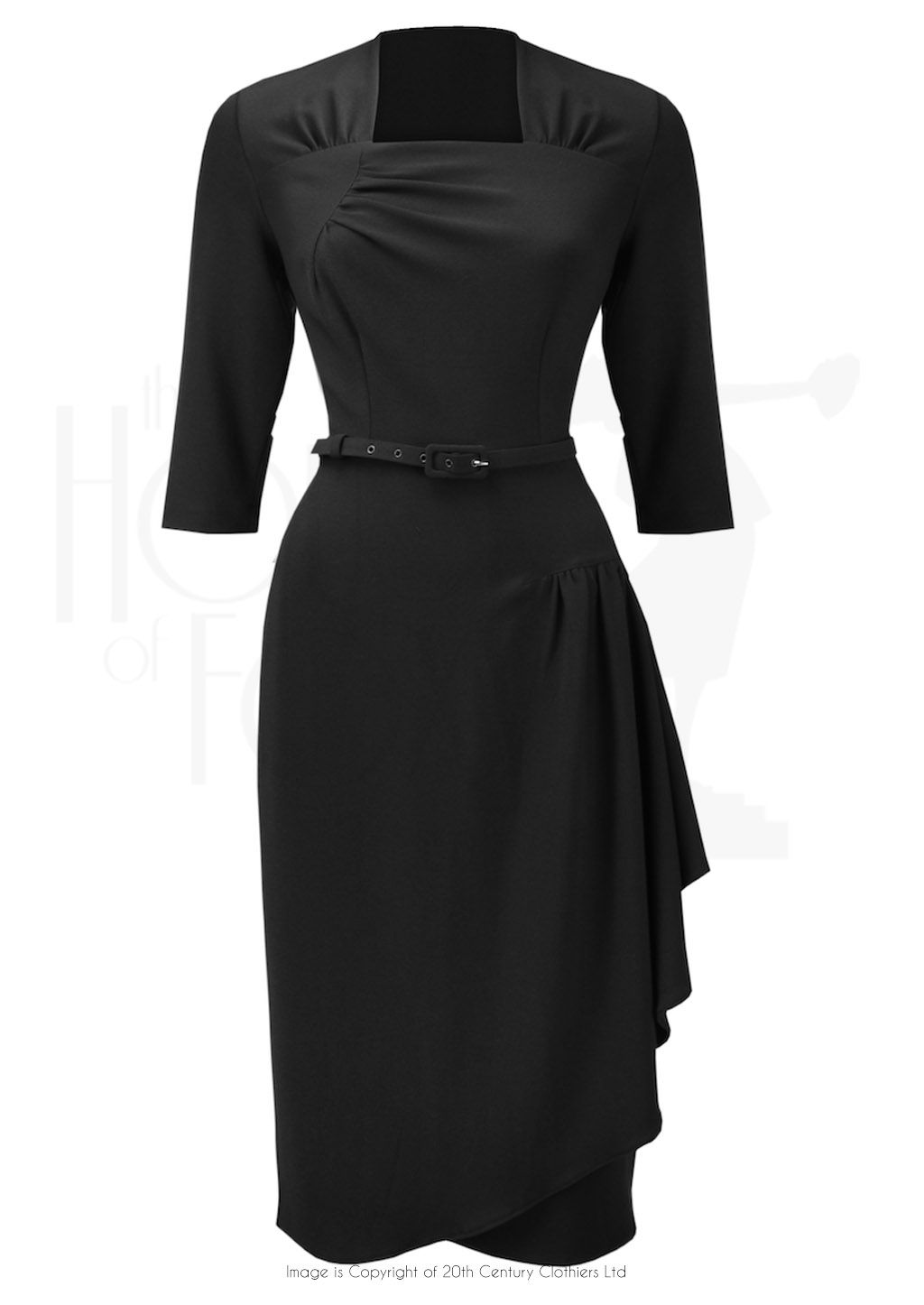 1940s Style Dorothy Ohara Cocktail Dress In Black 1940s Fashion Black Cocktail Dress Cocktail Evening Dresses [ 1446 x 1024 Pixel ]