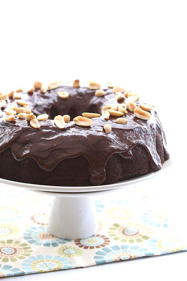 Chocolate Peanut Butter Buckeye Cake - low carb, gluten-free, grain-free, sugar-free
