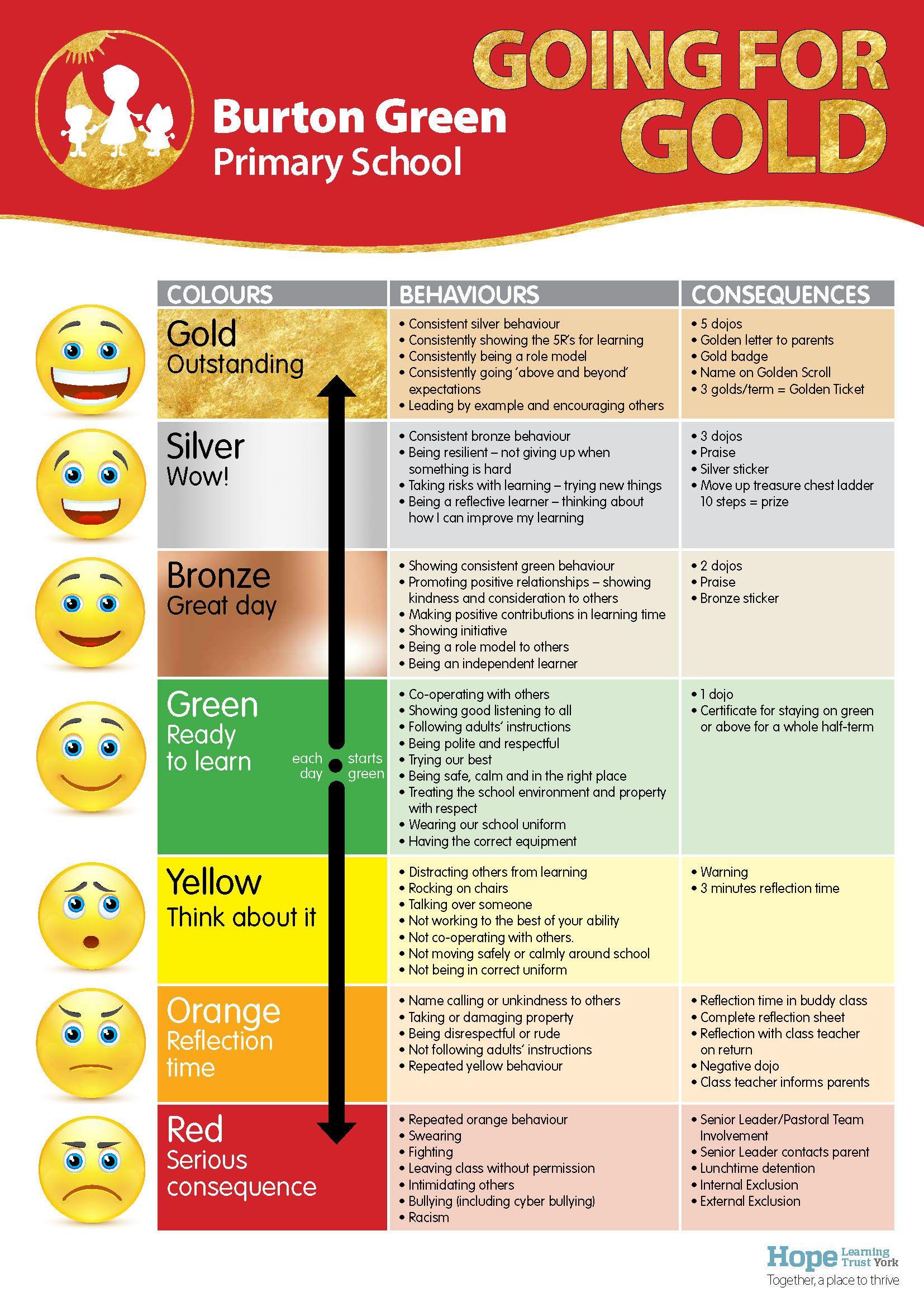 Image Result For Students Reflections Behaviour Ladder