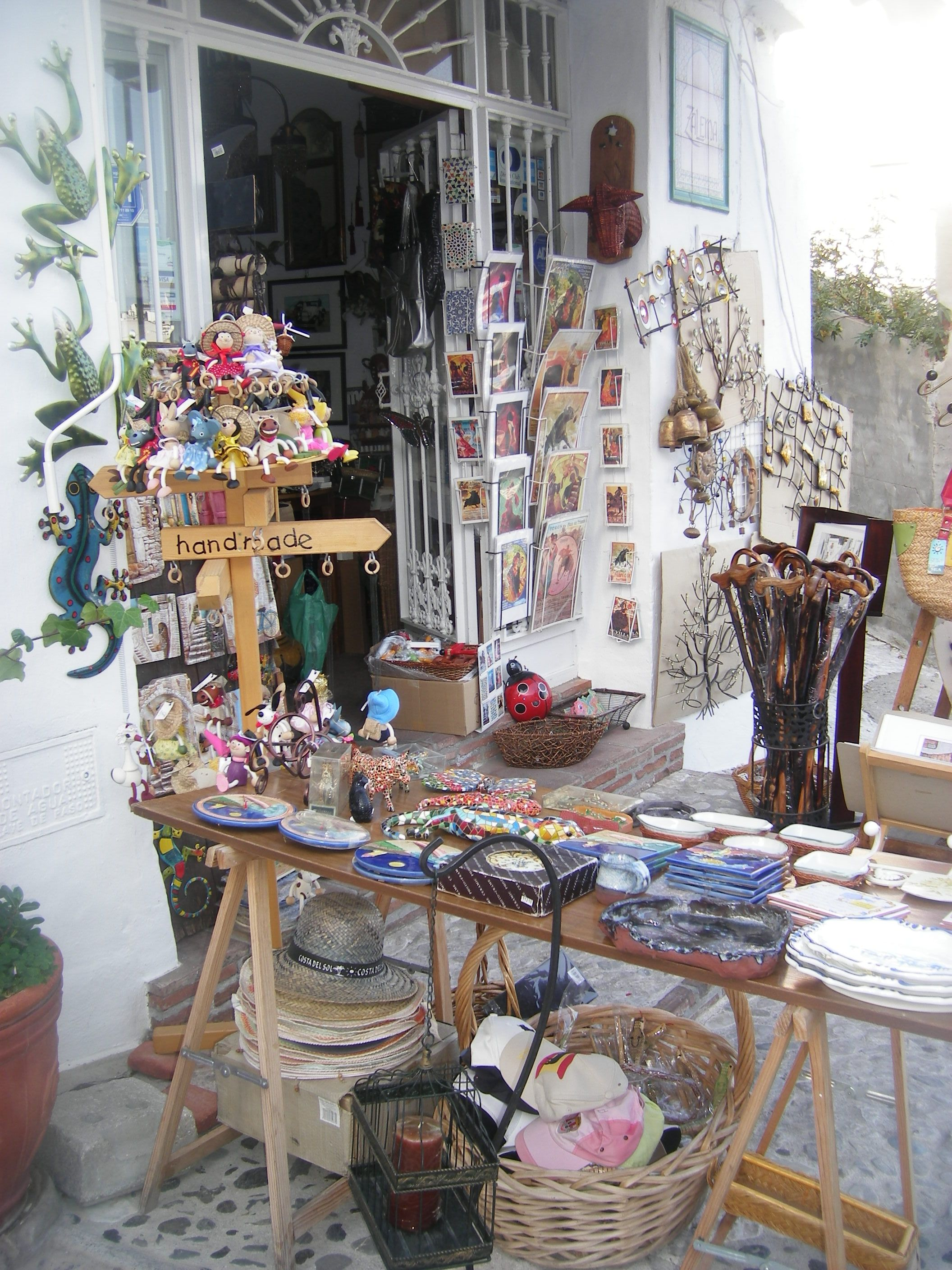 A cute little shop in Frigiliana, Andalucía...one of the