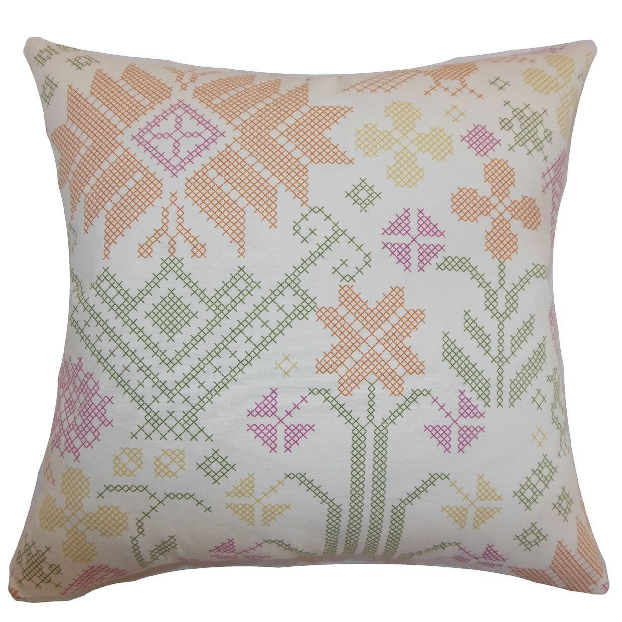 Paulomi damask twill pink feather filled inch throw pillow shop
