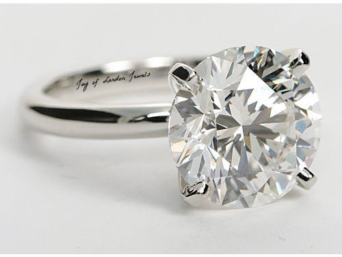 Classic Tiffany Style 4ct Round Cut Solitaire Russian Lab Diamond