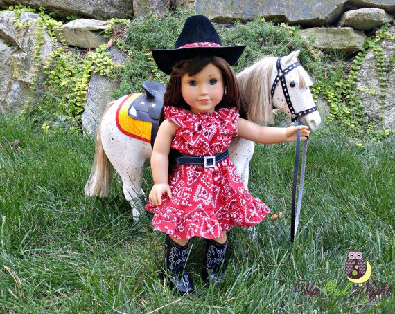 Red Cowgirl Outfit By Upowlnightcrafting On Etsy Made -8285