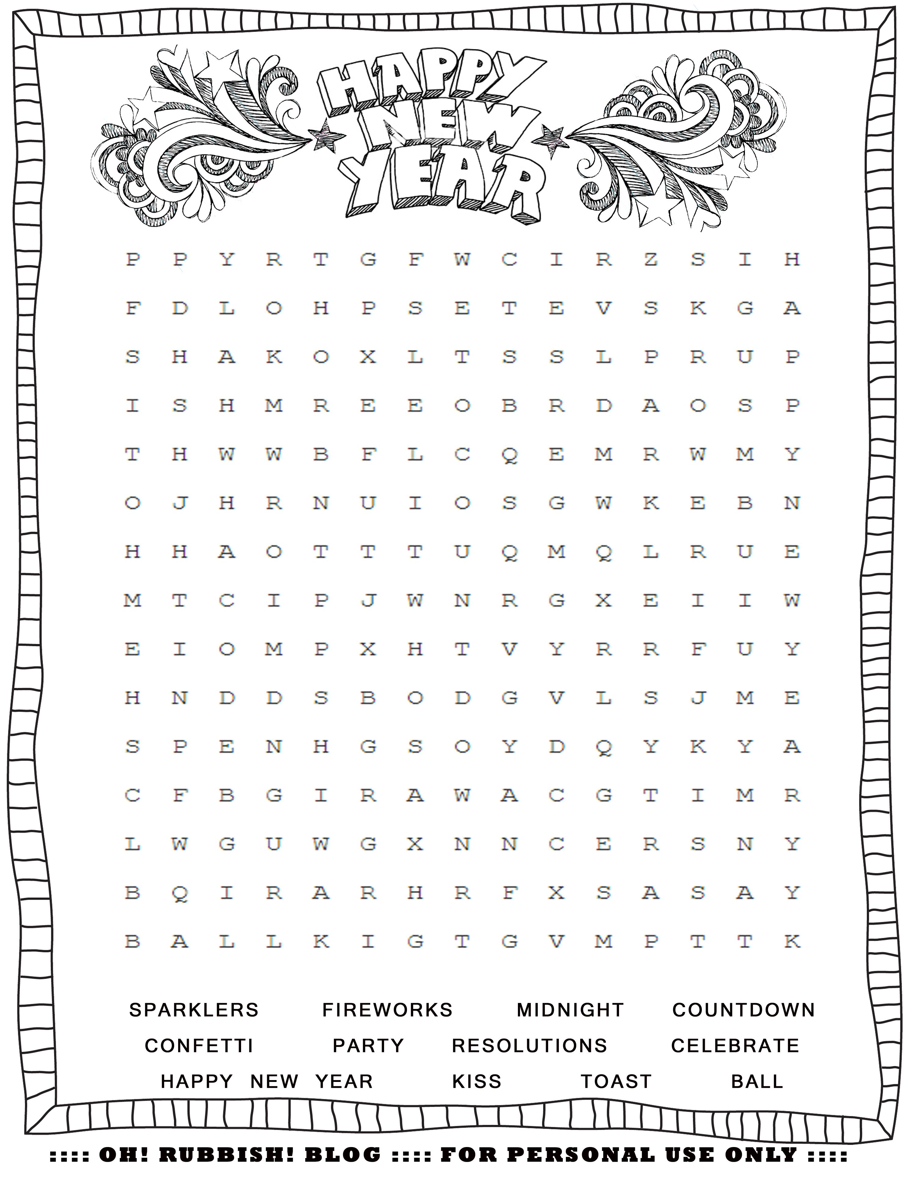 new years printable activities entertain your kids with 4 new