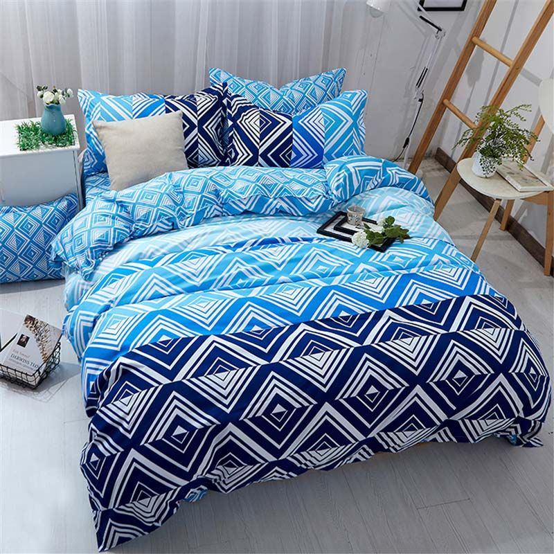 Contemporary Simple Bedding Set Personalized Diamond Pattern