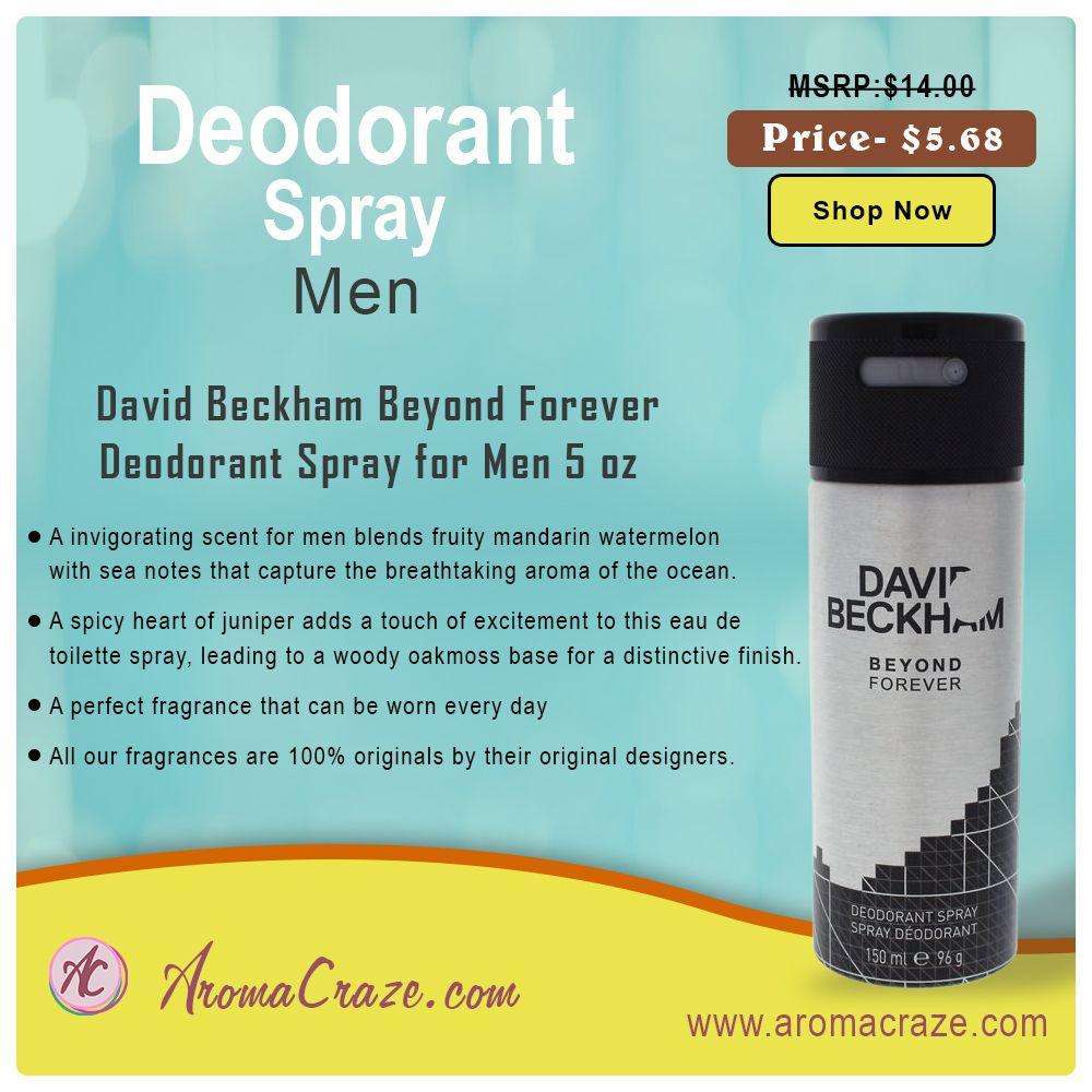David Beckham Beyond Forever Deodorant Spray For Men 5 Oz This Is A