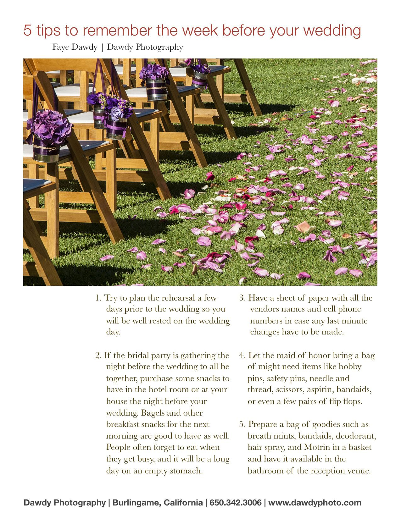 So Many Little Things To Help Make The Day Run Smoothly Wedding Planning Made Easy