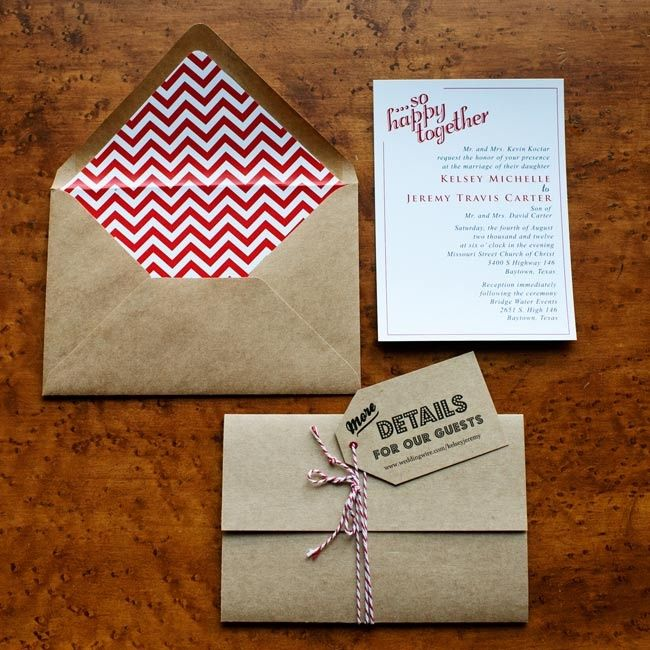 Retro kraft paper invitations // photo by: Kristi Wright Photography