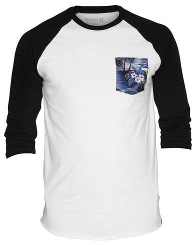 98f930c75 Hurley Flammo Pocket Raglan Mens Premium Fit T Shirt