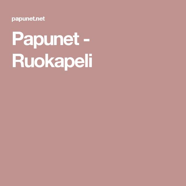 Papunet - Ruokapeli