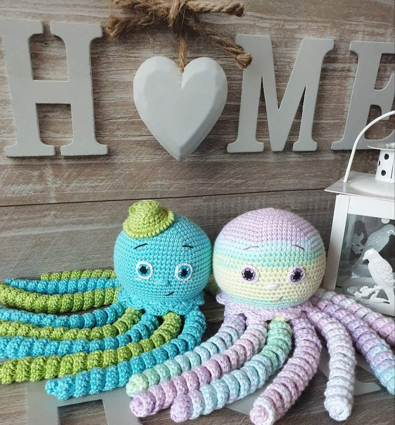 Crochet octopus amigurumi - best toy for preemie. Perfect toy for NICU baby