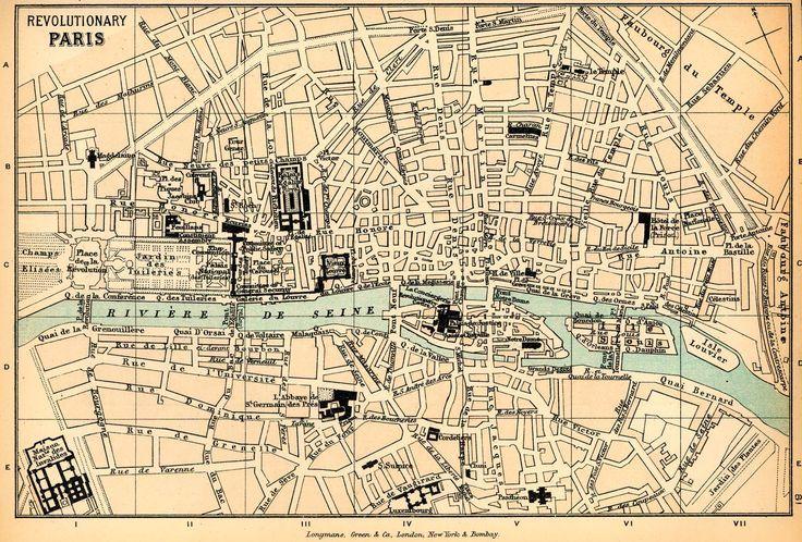 Revolutionary, Cities Maps, Paris Map, Revolutionary Paris ...