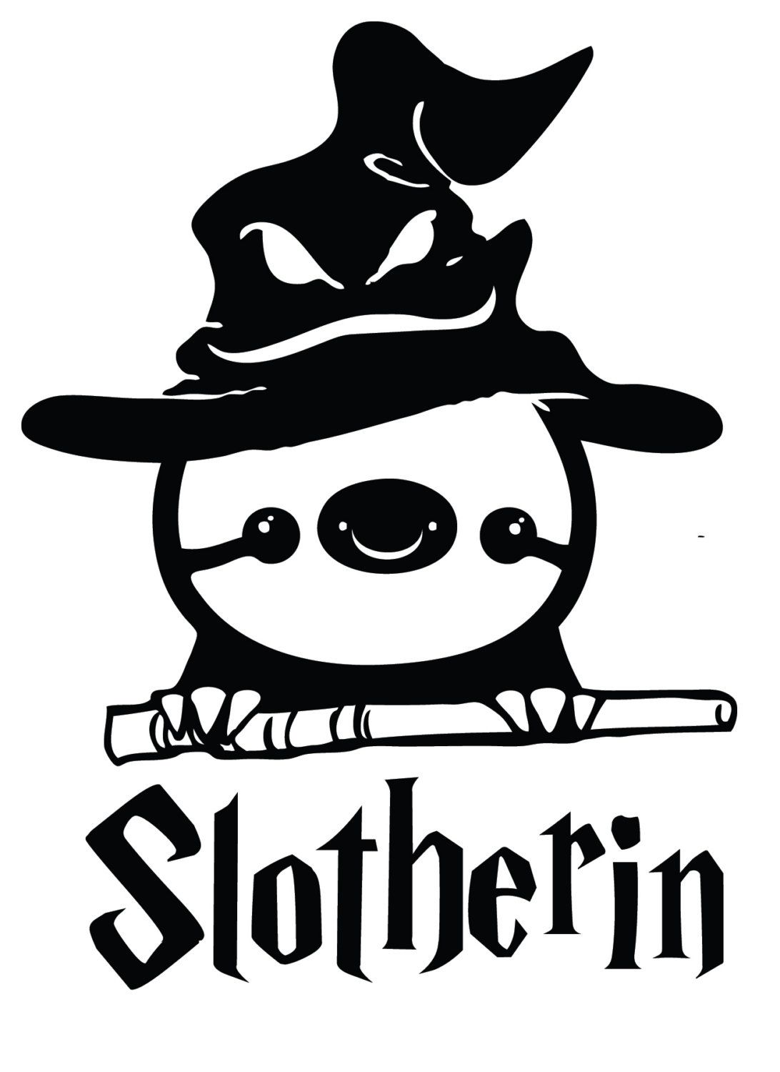 Funny harry potter sloth slotherin decal sticker by stickedecals