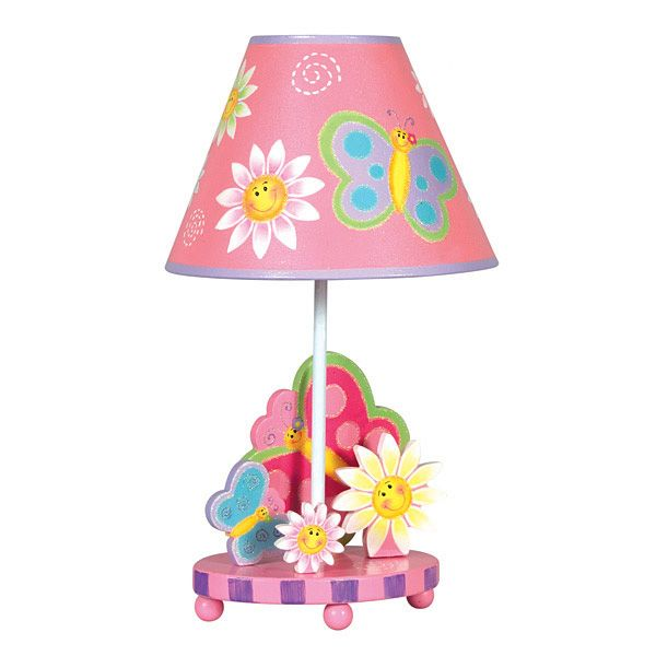 Adorable Butterfly Lamp For A Little Girl S Room Butterfly Lamp Childrens Table Lamps Butterfly Table