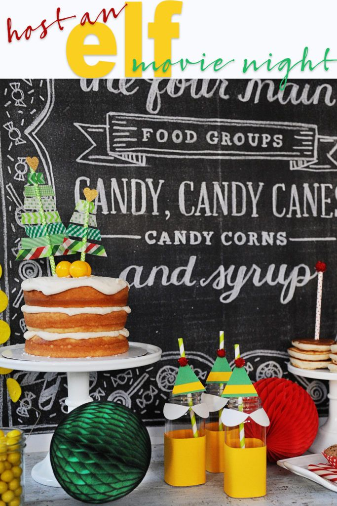 Hosting Christmas Party Ideas Part - 27: Elf Movie Night Party - Christmas Traditions