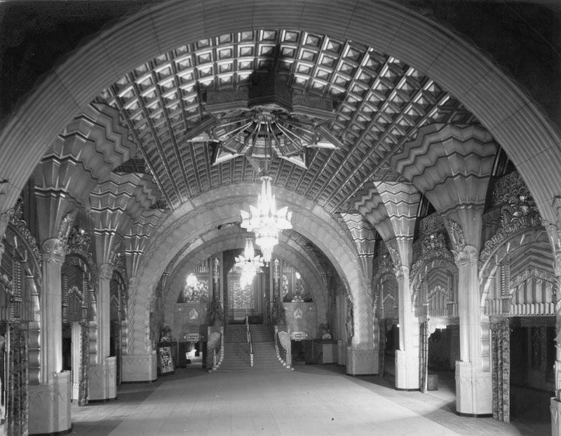Ca 1930 Interior View Of The Pantages Theatre Perhaps The Most Impressive Of Any Los
