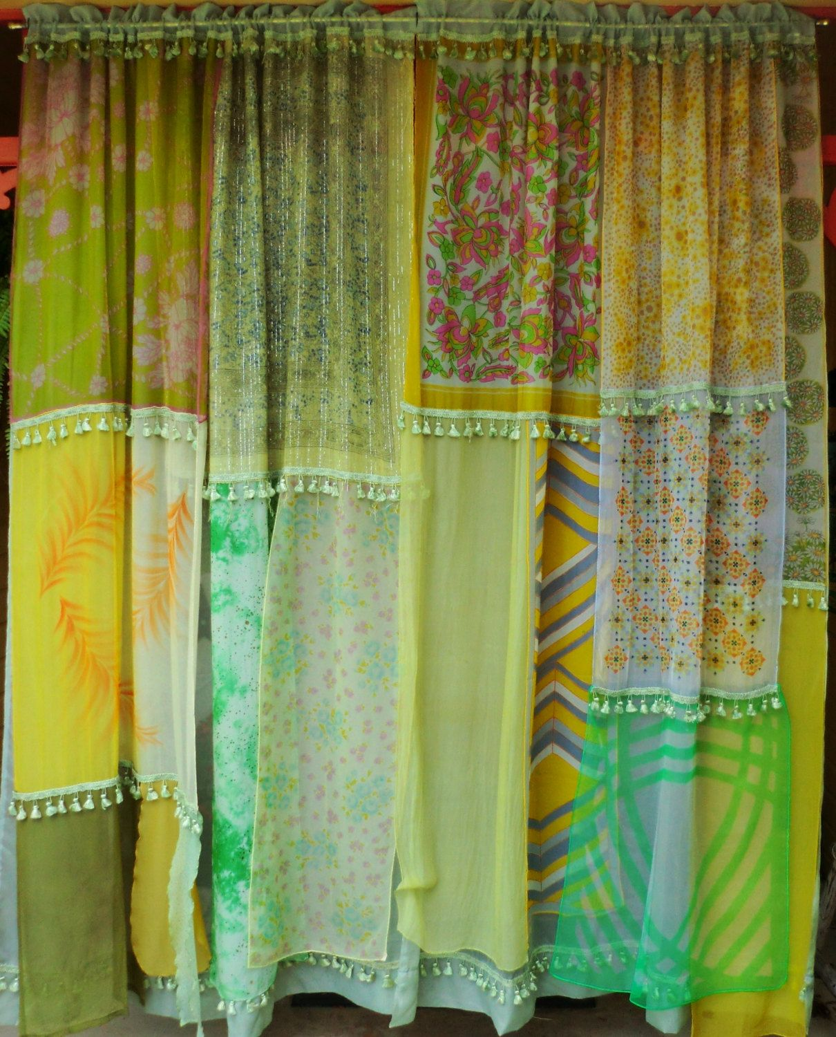 Boho window curtains - Miss Sun Handmade Gypsy Curtains