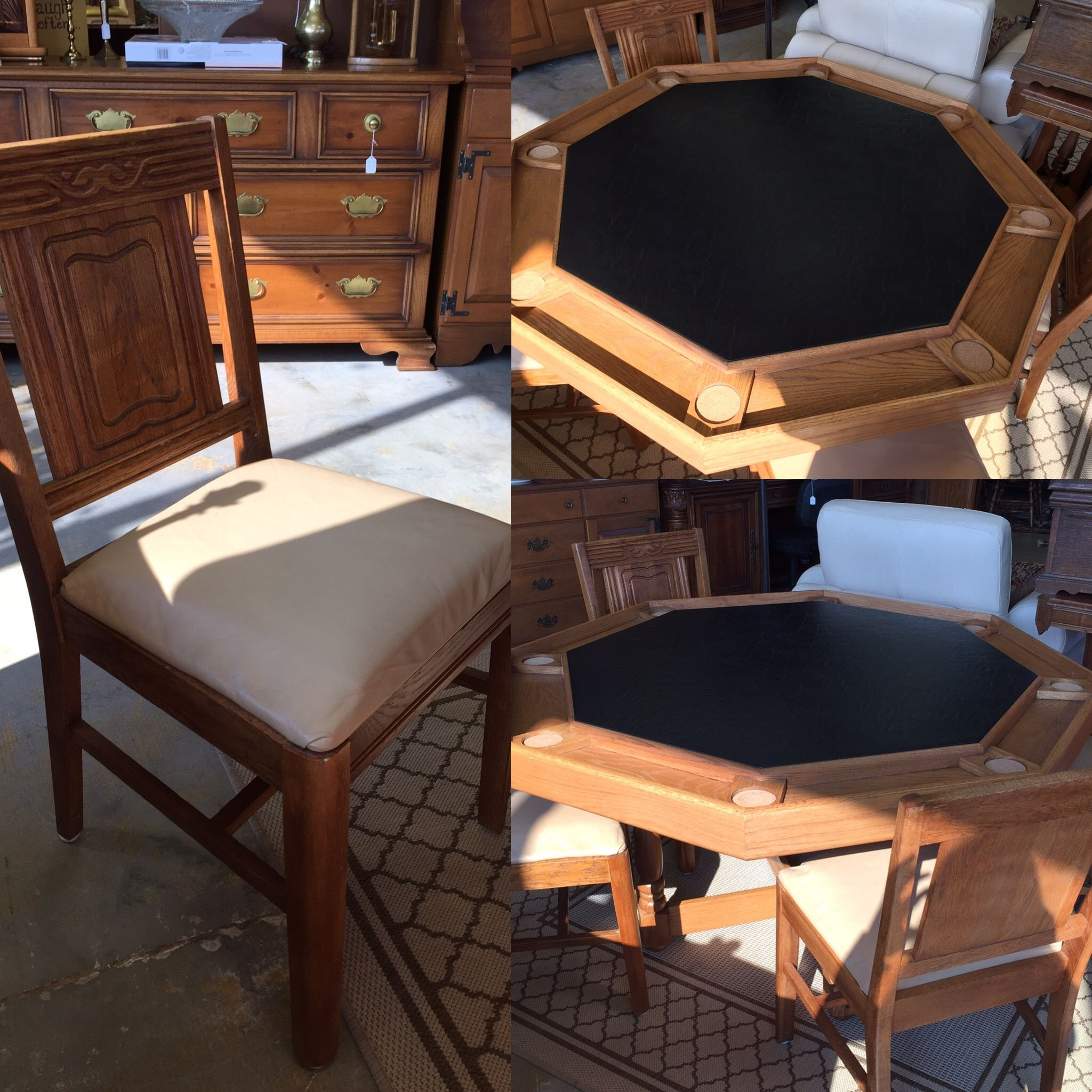 Classic Poker Table And Four Chairs For 495 Don T Miss Out Buy
